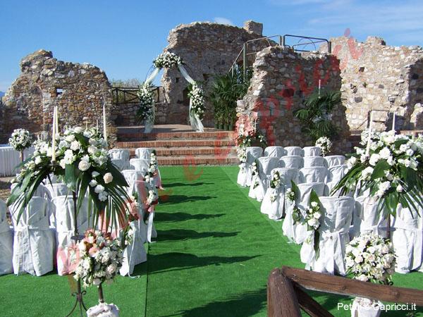 Allestimenti floreali per matrimoni for Decorazioni giardino per matrimonio